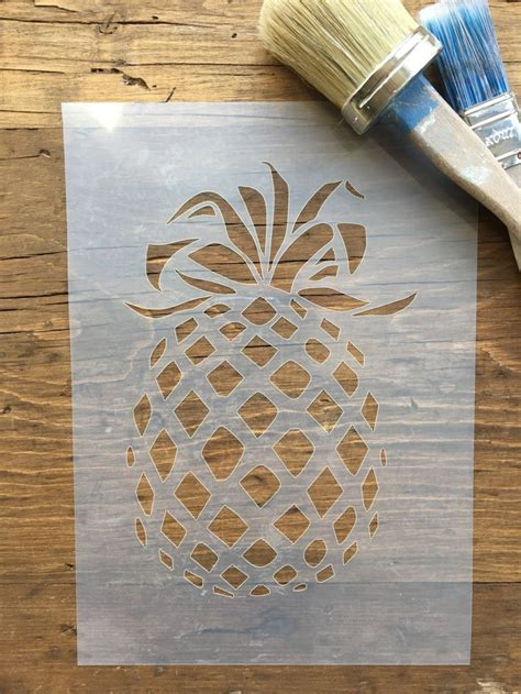 pineapple stencil wall art fruit stencil pineapple shabby chic stencil furniture
