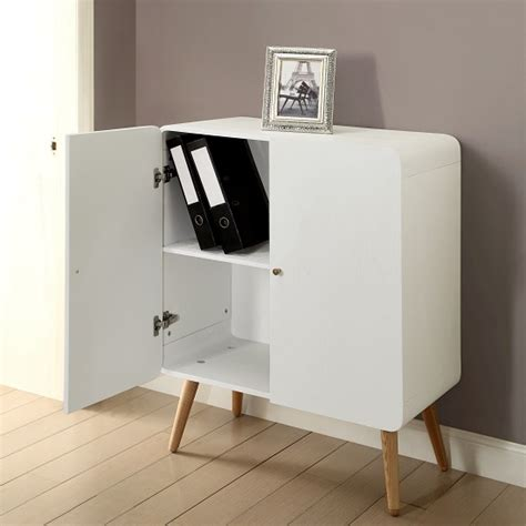 worcester office storage cabinet in white ash with 2 doors
