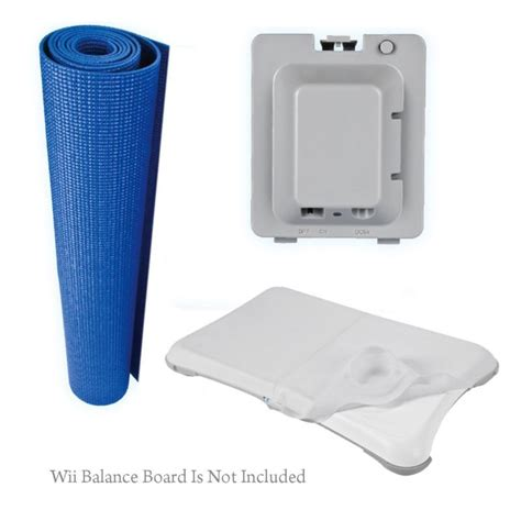 Nintendo Wii Mat by Fit Kit Fitness Mat Rechargeable Battery Silicone