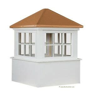 Cupola Window by 30 Quot 36 Quot 42 Quot Azek Vinyl Window Cupola With Copper Roof Ebay