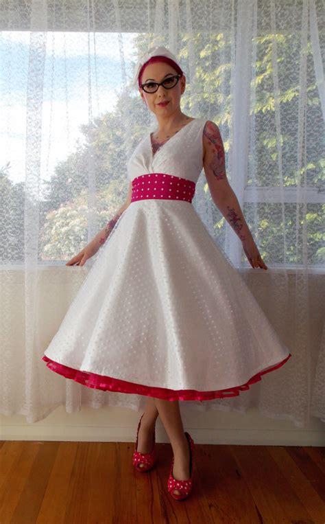 1950 S Rockabilly Fenella Wedding Dress With Polka By