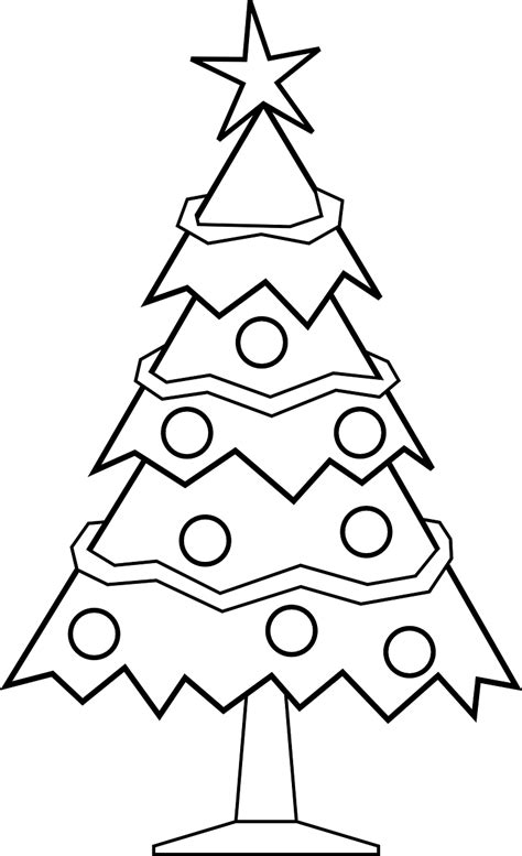 new christmas tree coloring pages free printable christmas tree coloring pages for kids 9