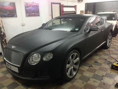matte black bentley convertible bentley gt matte black wrap