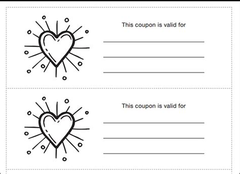black and white printable love coupons sle coupon template 43 documents in psd vector