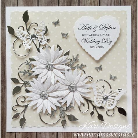 Wedding Handmade Cards - beautiful wedding card handmade by kari designs www