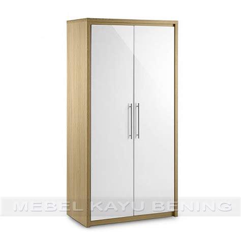 Lemari Kayu Pintu 2 lemari pakaian 2 pintu kayu jati model minimalis safari