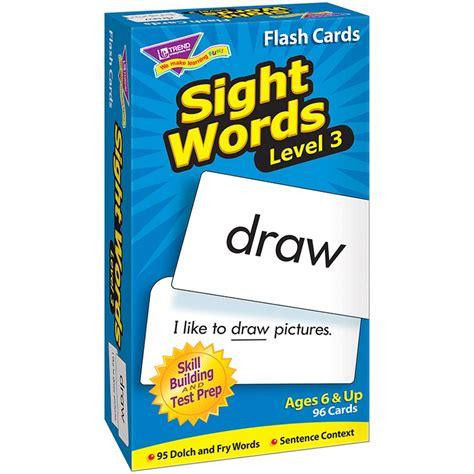 libro sight words flash sight words level 3 skill drill flash cards t 53019 trend enterprises inc