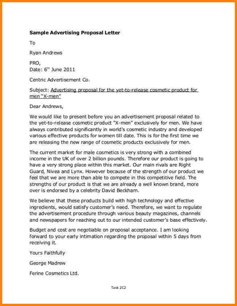 Offer Letter Format For Advertisement 10 Advertising Letter Sle Template 2017