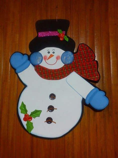 muecos de navidad en foami mu 241 eco de nieve en foami navidad pinterest