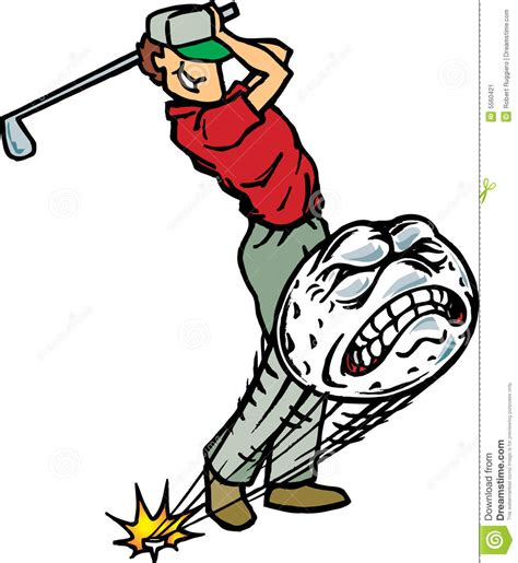 cartoon golf swing golfer hitting golfball stock vector image of golf