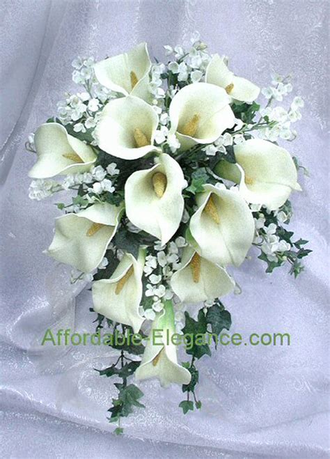 Wedding Bouquet With Calla Lilies by Ivory Calla Bridal Bouquets Wedding Flowers Set Ebay