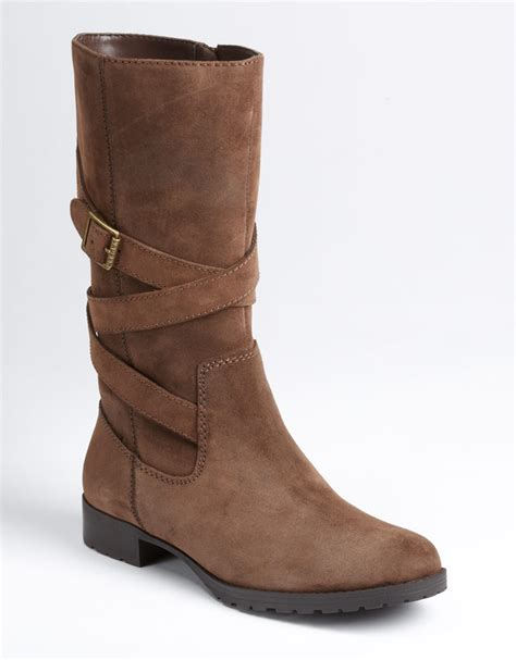 Suede Bludru Not Leather Ip55sse66s677 by ralph shelby suede boots in brown brown leather lyst