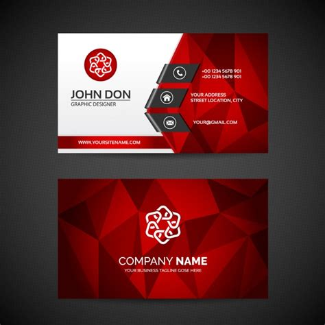Business Card Template With And Logo by Business Card Template Vector Free