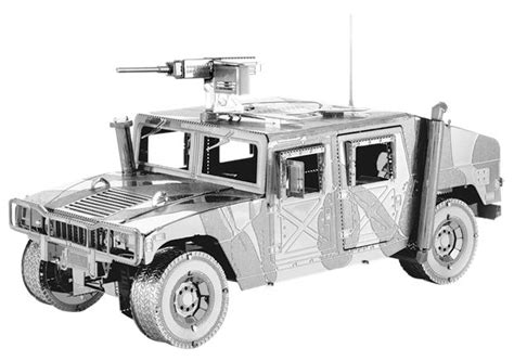 3d Metal Humvee metal earth diy 3d metal model kits metal earth iconx humvee who s who in the zoo