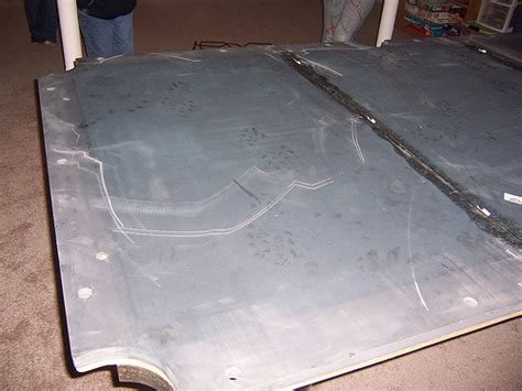 finished billiard slate installation 3 piece