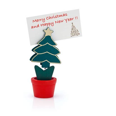 christmas tree place card holder