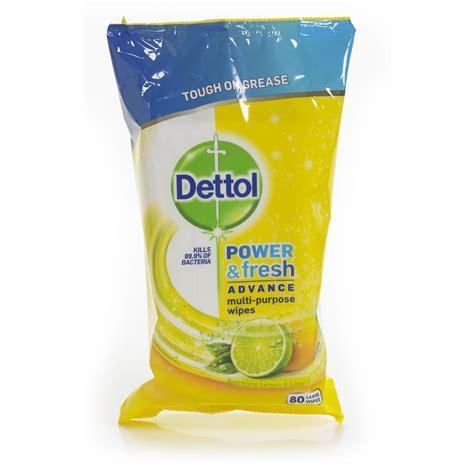 Detol Fresh dettol power and fresh wipes citrus 80pk at wilko