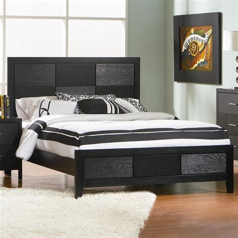 bedroom sets queen size beds coaster 201651q black queen size wood bed steal a sofa