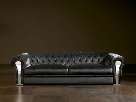 leather and upholstered sofa nella vetrina rugiano nirvana 6053 320 black leather sofa