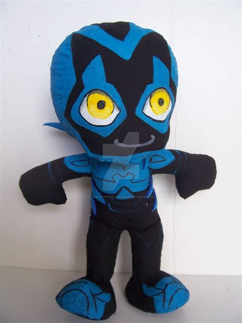 Handmade Anime Plushies - blue beetle handmade plushie from justice by yoshi