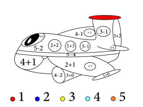 add color free coloring pages of subtract color