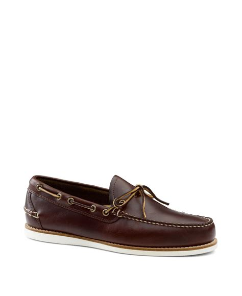 bass boat shoes mens g h bass co bass ackley 1 eye boat shoes in brown for