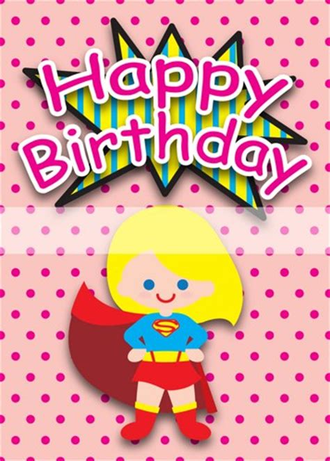 X Birthday Cards Printable Clipart Digital Pdf File Superhero 5 X 7 Inch