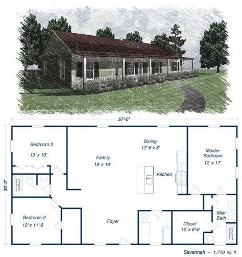 Metal Building Home Kits by House Plans On Barndominium Floor Plans And