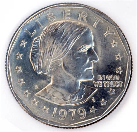 1979 d susan b anthony one dollar coin by redhorse0088 on etsy