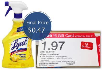 lysol spray    target  krazy coupon lady