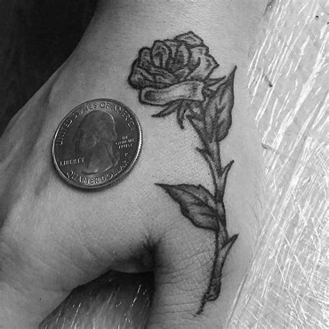 small rose hand tattoo 60 small tattoos for masculine ink design ideas