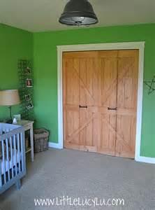 Bifold Barn Doors Someday Crafts Bi Fold Doors Into Barn Doors
