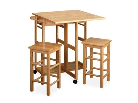 Small Table With 2 Stools by Drop Leaf Kitchen Tables For Small Spaces With 2 Stools