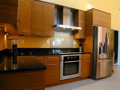 horizontal kitchen cabinets earth friendly horizontal bamboo kitchen contemporary