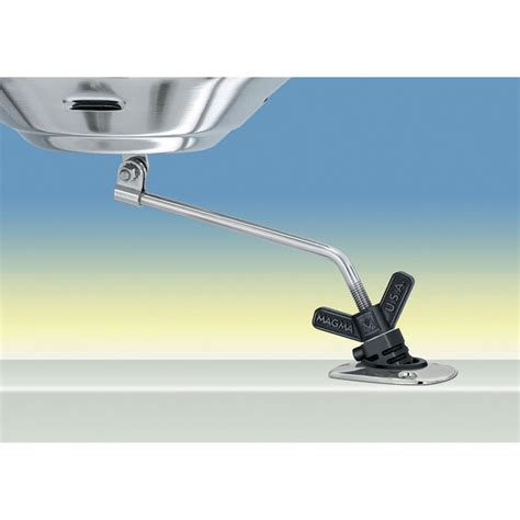 magma boat grill rod holder mount magma magma marine kettle grill pow r grip fish rod holder