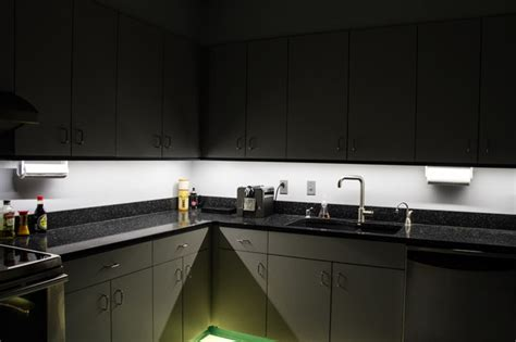 kitchen cabinet led lighting led kitchen cabinet and toe kick lighting contemporary kitchen st louis by