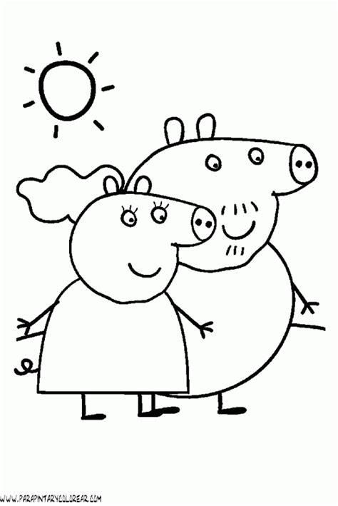 peppa pig para colorear dibujos para colorear de peppa pig imprime tus dibujos