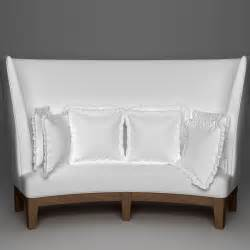 high back settee keoki 3d high back settee with arms curved high back sofa 3d model