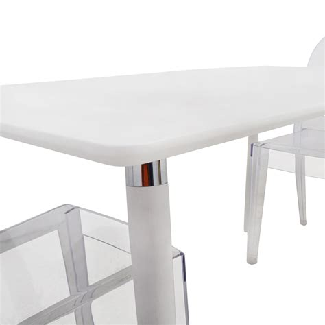 Ghost Chair Dining Set 80 White Dining Table Set With Two Ghost Chairs Tables