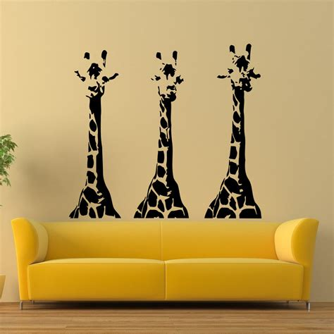 giraffes vinyl wall decal giraffe animals jungle safari animal mural wall sticker