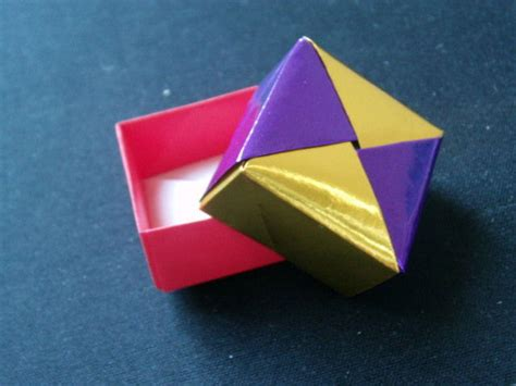 How To Make A Origami Present - origami square gift box allfreepapercrafts