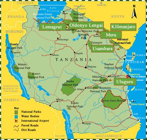 map ya africa ra safaris mountaineering in tanzania africa tanzania