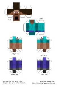 Minecraft Steve Paper Template by Papercraft Steve