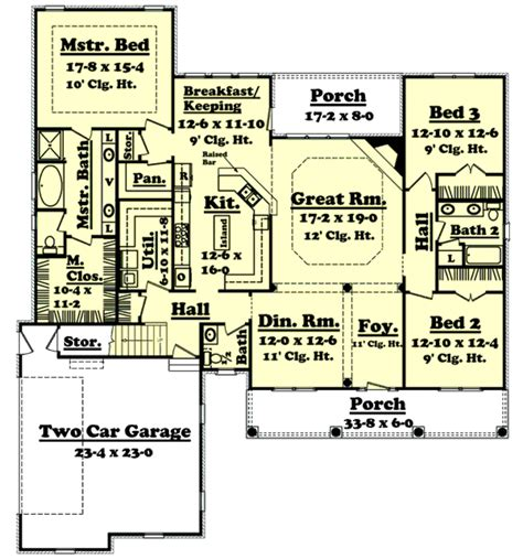 2400 square feet country style house plan 3 beds 2 5 baths 2400 sq ft plan 430 32