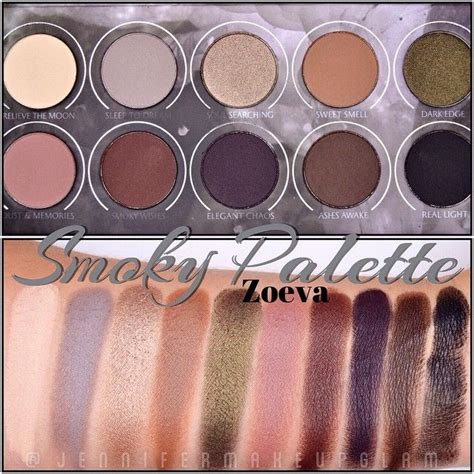 Eyeshadow Zoeva swatches paleta smoky palette de zoeva zoevacosmetics maquillalia jennifermakeupglam jmug
