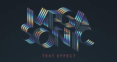 photoshop tutorial vector effect mega sonic retro text effect photoshop text effects