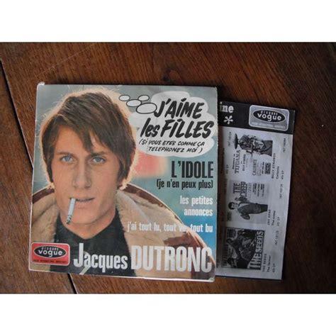 jacques dutronc fille j aime les filles by jacques dutronc ep with seventies