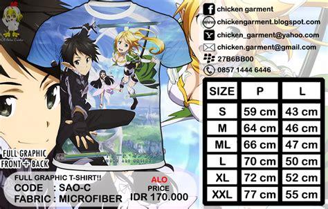 kaos anime anime t shirt chicken garment anime clothing