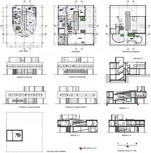 villa savoye floor plan dwg villa dwg plan joy studio design gallery best design