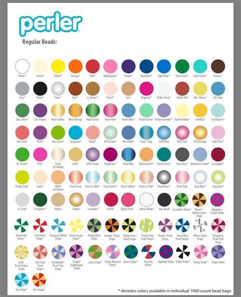 perler bead colors newest list of colors from perler and mocha are